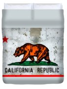 California State Flag Weathered And Worn Duvet Cover