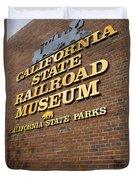 California State Railroad Museum Duvet Cover
