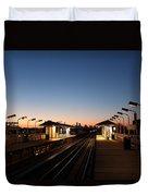 California Train Station Landscape Duvet Cover