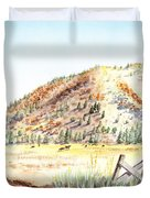 Californian Landscape Saint John Ranch Bald Mountain View Shasta County Duvet Cover