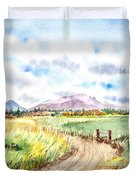 Californian Landscape Saint Johns Ranch Of Mountain Shasta County Duvet Cover