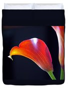 Calla Colors And Curves Duvet Cover by Rona Black