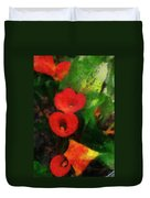 Calla Lilies Photo Art 03 Duvet Cover by Thomas Woolworth