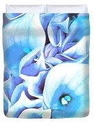 Calla Lilly So Soft Lilac And Blue Duvet Cover