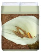Calla Lily Gold Leaf Duvet Cover