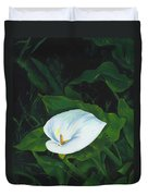 Calla Lily In The Garden Of Diego And Frida Duvet Cover