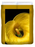 Calla Lily On Black Duvet Cover
