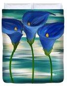 Calla Trio- Calla Lily Paintings Duvet Cover