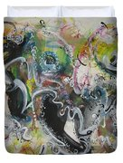 Calligraphy Abstract 03 Duvet Cover