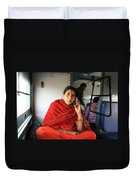 Calling From The Train Duvet Cover