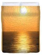 Calm Sunset At Sea Duvet Cover