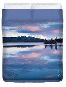 Calm Twin Lakes At Sunset Yukon Territory Canada Duvet Cover