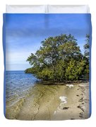 Calm Waters On The Gulf Duvet Cover