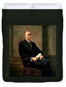 Calvin Coolidge Presidential Portrait Duvet Cover
