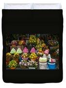 Cambodia Flower Seller Duvet Cover by Mark Llewellyn