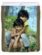 Cambodian Children 02 Duvet Cover