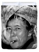 Cambodian Lady Smoker Duvet Cover