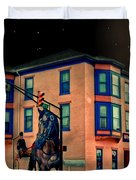 Cambridge City At Night Duvet Cover