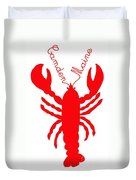 Camden Maine Lobster With Feelers 20150207 Duvet Cover