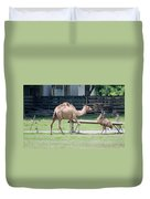 Camel And Emu Duvet Cover
