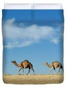 Camel Train Duvet Cover