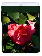 Camelia In The Shadows Duvet Cover