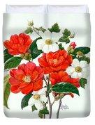 Camellia Adolf Audusson Duvet Cover
