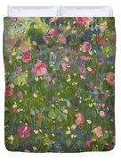 Camellia In Flower Duvet Cover