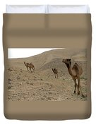 Camels At The Israel Desert -2 Duvet Cover