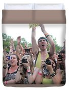 Cameras In The Crowd Duvet Cover