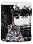Camo Guitar Duvet Cover