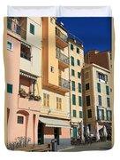 Camogli - Homes And Promenade Duvet Cover