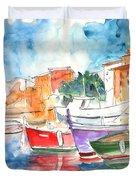 Camogli In Italy 14 Duvet Cover