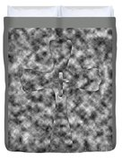 Camouflage Gray Black And White Cross Duvet Cover