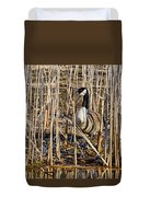 Camouflaged Canada Goose Duvet Cover