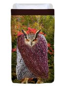 Camouflaged Owl Duvet Cover