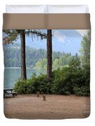 Camp By The Lake Duvet Cover