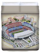 Camp Nou - Barcelona Fc Duvet Cover