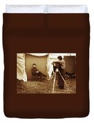 Camp Photographer Duvet Cover