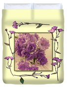 Campanula Framed With Pressed Petals Duvet Cover