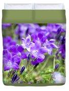 Campanula Portenschlagiana Blue Bell Flowers Duvet Cover