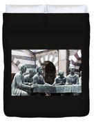 Campari Grave Marker Detail IIi Disciples Last Supper Duvet Cover