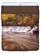Campbell Falls In Autumn Duvet Cover