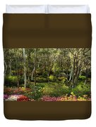 Campbell Rhododendron Gardens 2am 6831-6832 Panorama Duvet Cover