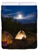 Campfire And Moonlight Duvet Cover