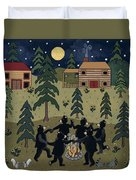 Campfire Dance Duvet Cover