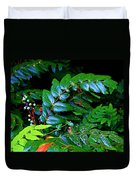 Campground Foliage Duvet Cover