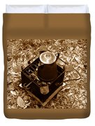 Camping Coffee Duvet Cover