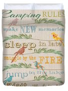 Camping Rules-c Duvet Cover