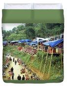 Can Cau Market Duvet Cover